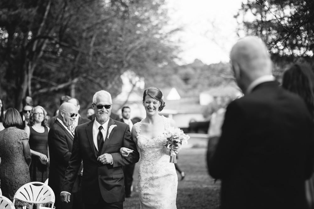 Perona Farms Wedding walking down the aisle
