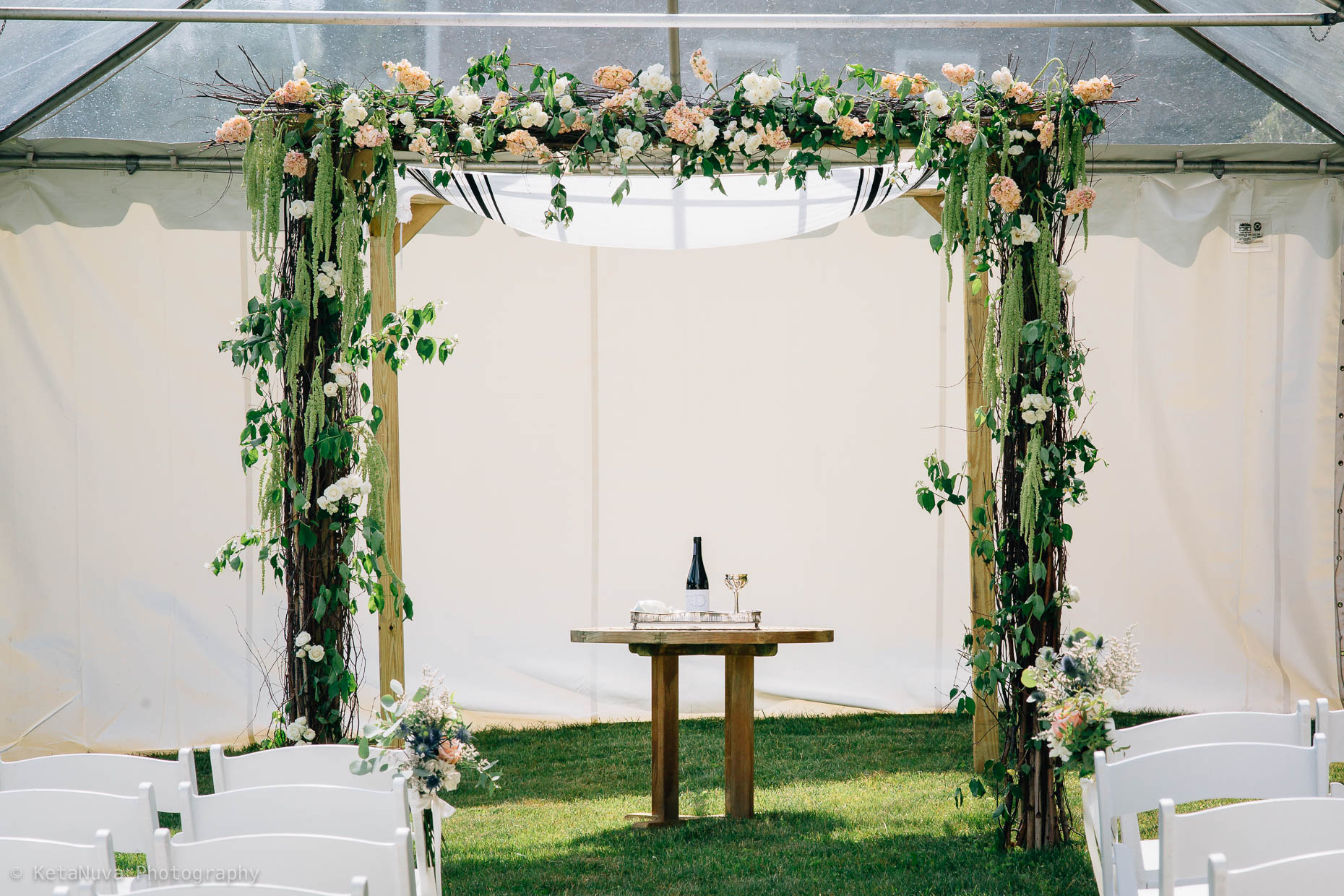 "Hudson Valley rustic wedding - The Chuppah. "" width=""1860"" height="