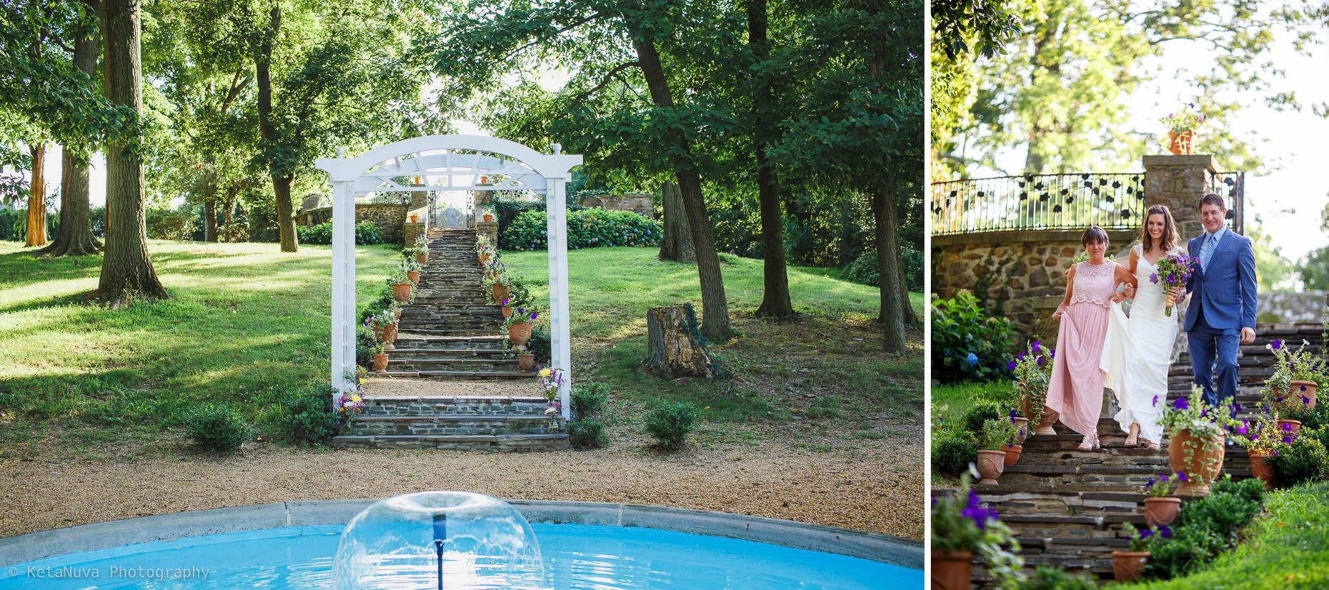 Sunken Garden - Lauxmont Farms Wedding | Aubrey & Barrett Lauxmont Farms Wedding Sunken Garden 015